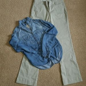 Abercrombie and Fitch and light Gap Khaki pabts